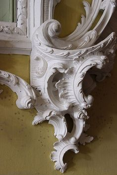 Detail of carved frame by Luke Lightfoot in the North Hall at Claydon House, c.1760