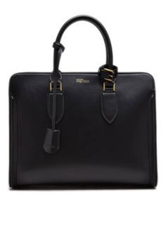 "<p>Alexander McQueen Heronine Open Tote Bag, $2,760; <a href=""http://www.shopstyle.com/action/apiVisitRetailer?id=407628986"