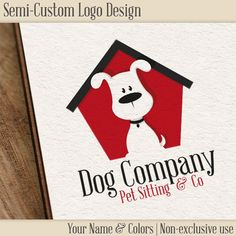 Cute dog logo, with a slightly puzzled look while sitting in front of his cute little dog house. The design is sold as non-exclusive - meaning others may buy the logo as well. Since you can customize the colors and the name, you will still receive a fairly unique design.    After purchase, all you need to tell me is your business name and color preference - a first draft will be with you within 24 hours, and we can fiddle with that till you are all happy. I hand over all relevant files for…