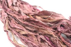 Reclaimed Sari Silk Ribbon: Summer Brown from DGY