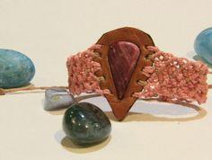 Handmade Bracelet/ Macrame/ Pink