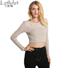 Real Striped Full Camisetas Womens T-shirt Sleeve Round-neck Tops Woman Slim Shirts New Style Printing Tees
