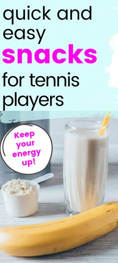 If you are playing in a tennis tournament you will want to make sure that you have plenty of snacks to keep your energy up. These simple snack ideas are perfect for tennis players. Savory Snacks, Quick Snacks, Yummy Snacks, Healthy Snacks, Tennis Tournaments, Tennis Players, Peanut Butter Packets, Yummy Smoothie Recipes, How To Make Smoothies