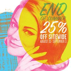 End of Summer Sale starts tomorrow at 9am PST. 25% all Blik retail products.