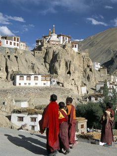 LADAKH: Yuru Gompa (Lamayuru), Kargil District, Western Ladakh, India. Gompa or Tibetan Buddhist monastery.