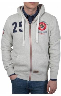 Nouveau Hurley bleu gris à rayures à manches longues à capuche Pull over veste chemise sz Medium