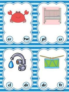 Are your students working on beginning blends? Here are 4 activities that will allow them to have fun practicing this standard. This CCVC unit contains 4 different activities that can be used in whole group, small group or centers. All activities use the same 24 pictures to make it easier for your students to work independently. Response sheets are included for two of the activities to provide the students the opportunity to write the initial consonant blends.