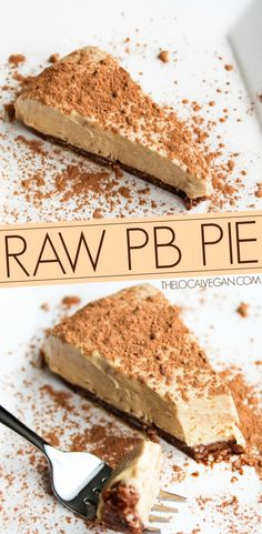Peanut Butter Pie: so rich, a little sliver is extremely satisfying (gf, vegan, no bake). **Not Raw** Minimalist GiGi Eats // GiGi Raw Vegan Desserts, Raw Vegan Recipes, Vegan Treats, Vegan Foods, Just Desserts, Delicious Desserts, Dessert Recipes, Yummy Food, Paleo