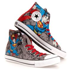 cae5ae8051b2 Converse Chuck Taylor All Star SUPERMAN DC COMICS High-Top Youth size 3  Nerd Shoes