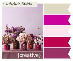 {The Perfect Palette}: 10 Palette Inspiring Centerpieces #color #crafts #DIY #decorating