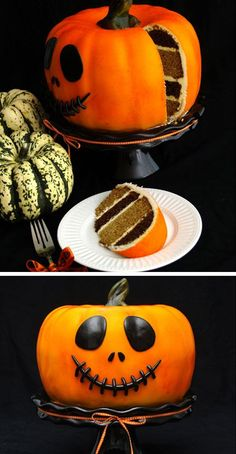 Pumpkin Cake | Click Pic for 42 Halloween Party Food Ideas for Kids to Make | Easy Halloween Treats for Kids To Make