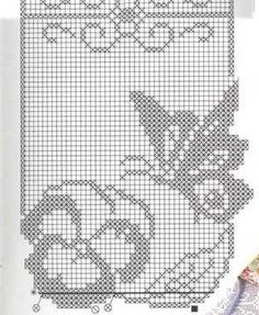 }}{{ and filet diagram ONLY Filet Crochet Charts, Crochet Diagram, Crochet Stitches, Butterfly Cross Stitch, Crochet Butterfly, Crochet Curtains, Crochet Doilies, Cross Stitch Patterns, Knitting Patterns