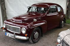 1953 Volvo PV444 with the visor and weird mirrors, the PV544 followed with more HP.