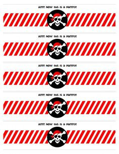 6 Best Images of Free Printable Pirate Labels - Printable Pirate Food Labels, Free Printable Pirate Water Bottle Labels and Pirate Party Printables Free Pirate Food, Pirate Theme, Pirate Party Invitations, Pirate Party Favors, Pirate Birthday, 4th Birthday Parties, Happy Birthday, Partys, Party Printables