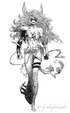 """Angela by on deviantART """"I'm not crazy about this character but the grace and beauty of the art can be denied"""" Marvel Comics Created by Todd McFarlane Marvel Comics, Spawn Comics, Marvel Art, Fantasy Art Women, Dark Fantasy Art, Fantasy Girl, Comic Book Characters, Comic Books Art, Comic Art"""
