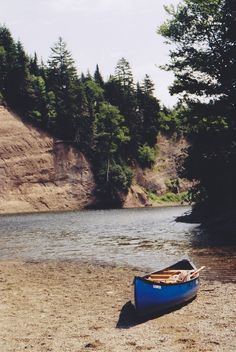 Canoe, river beach