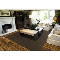 "Mainstays 7'5"" x 9'5"" Rug - Walmart, Brown. Living room?"