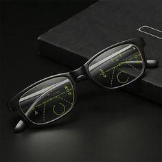 TR90 Full Frame Progressive Multifocal Resin Reading Glasses