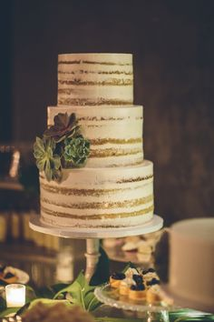 Carrot cake Naked cake with succulents. Cake by Earth and Sugar