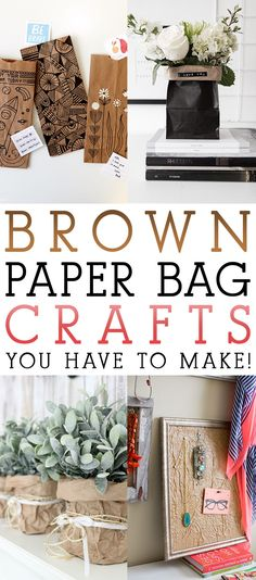 When you think of a Brown Paper Bag you usually think of shopping…lunch…dare I say garbage? Well let me tell you the Brown Paper Bag has a million and one uses that are far and beyond the traditional Uses! Today we have a collection of Brown Paper Bag Crafts You Have To Make. From Vases …