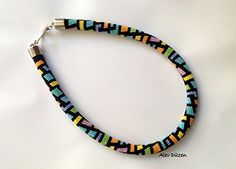 Bead Crochet Necklace - Black and Colorful Beaded Necklac... https://www.amazon.com/dp/B076HSGFF9/ref=cm_sw_r_pi_dp_x_4PZfAbX06WJ74