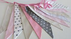 Kinderzimmerdekoration - Wimpelgirlande /Wimpelkette - ein Designerstück von Hokuspokuss bei DaWanda