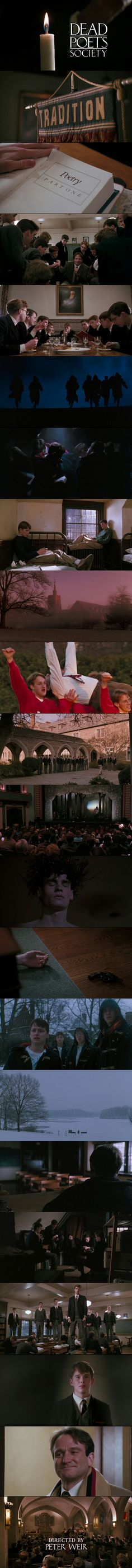 Dead Poets Society (1989) Directed by Peter Weir. Starring Robin Williams, Robert Sean Leonard, Ethan Hawke and....
