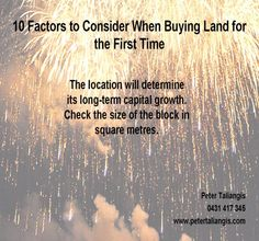 10 factors to consider when buying land for the first time (Click to view all 10 factors)