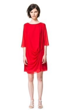 Image 1 of DRAPED DRESS from Zara