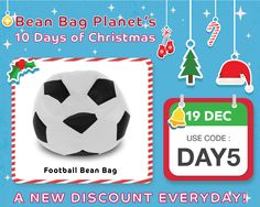 Football Bean Bag, 10 Days Of Christmas, Coding, Programming