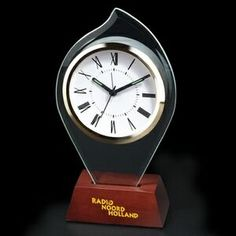 Flame Shape Desktop Glass Alarm Clock