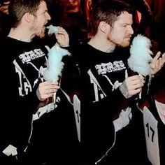 Why is this so cute? Andy and cotton candy *lick* Creds @/quality_fob