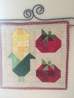 A personal favorite from my Etsy shop https://www.etsy.com/listing/537642607/eat-your-vegetables-mini-quilt-wall
