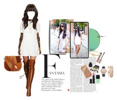 """""""E for Eyelet"""" by maryann-bunt-deile on Polyvore featuring Topshop, Kate Spade, Foley + Corinna, Le Specs, Rimmel and Jessica Carlyle"""
