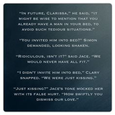 Jace, Clary and Simon (Mortal Instruments) Quote