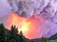 """Fire officials say the chances of saving the tourist town of South Fork in Southern Colorado are """"low to moderate."""" The West Fork Fire made a 7-mile run yesterday.  6/21/13"""