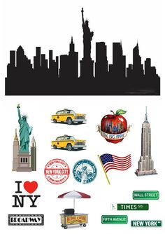 Stand Up New York City Scene made from Fully Edible Premium New York Theme Party, Cricket In Times Square, New York Papers, New York Cake, Handmade Scrapbook, Scrapbook Borders, Party Table Decorations, Apple New, City Scene