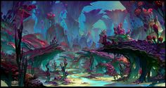 Rift Nightmare Tide environment concept, Herman Ng on ArtStation at https://www.artstation.com/artwork/0ZrWV