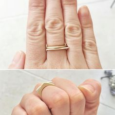 Kaylin Hertel gold and silver slice rings at ESQUELETO los angeles