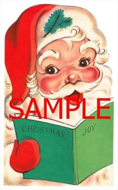 2bcd4f656ebda Fabric Art Quilt Block Christmas Retro Santa Claus 14-0385