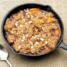 This warm, homey crisp is easy to make and impossible to resist! Honey-sweet peaches, tart dried cherries and almond streusel!