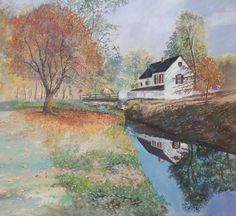Autumn Paintings in the Country | AUTUMN IN THE COUNTRY PAINTING by Judy Mastrangelo Contemporary Fine ...