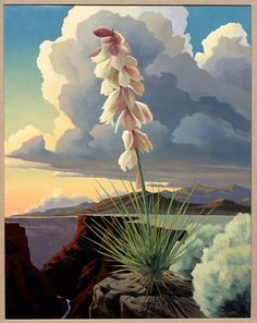The Chosen One, Doug West, art, landscape, southwest, desert, canyon, flower