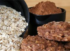 Easy Dessert Recipe: No-Bake Chocolate Oat Cookies - 3 cups quick-cooking oats 1 cups sugar cup milk cup unsweetened cocoa powder 1 stick butter, cubed 1 teaspoon vanilla extract teaspoon salt cup peanut butter, optional Chocolate Oat Cookies, Granola Cookies, Chocolate Granola, Cocoa Cookies, Oatmeal Cookies, Dessert Simple, Gourmet Cookies, No Bake Cookies, Cookies Kids
