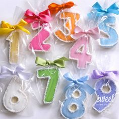 Number Cookie Favors. - I'd love to make 2 and 1 shaped cookies for each guest to take home with them at my 21st