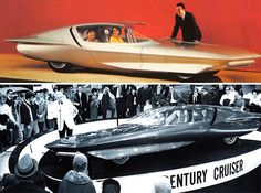 A rocket-like automobile is 1969 Buick Century