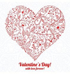 Valentines+day+lacy+paper+heart+greeting+card+vector+1824604+-+by+lieslia on VectorStock®