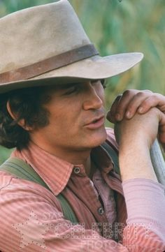 Michael Landon as Charles Ingalls in Little House On The Prairie