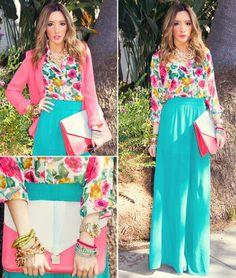 I wish I had the nerve to wear a maxi skirt..