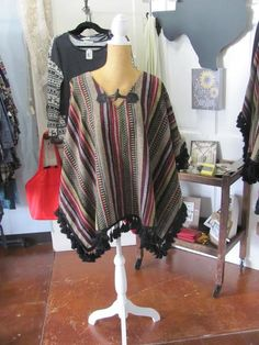The lovely Multi-Colored Crane poncho